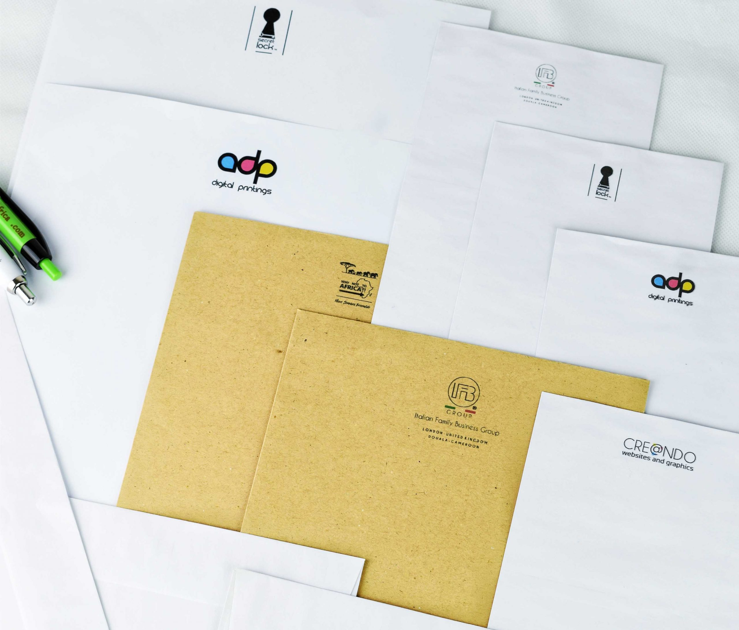 Letterhead and Pens